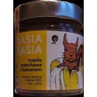 Masło orzechowe z bananem, lnem i nasionami chia